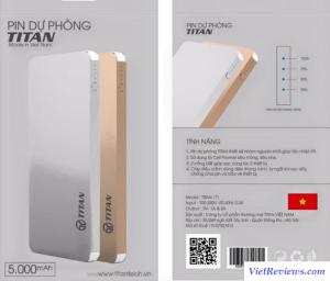 Đánh giá tổng quát về pin sạc dự phòng Titan 4